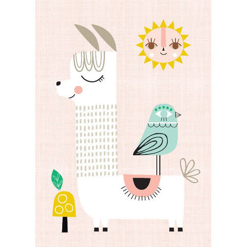 Petit Monkey Sunshine Lama Poster by Suzy Ultman