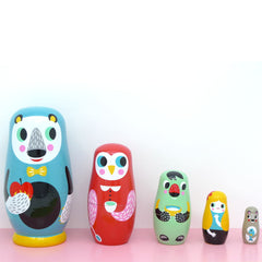 Petit Monkey Nesting Dolls, In The Woods