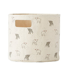 Petit Pehr Little Lamb Canvas Bin, Mini
