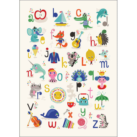 Petit Monkey ABC Poster by Helen Dardik