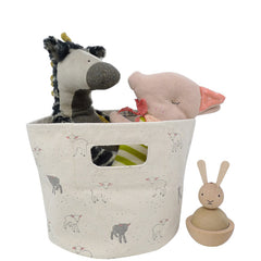 Little Lamb Canvas Bin, Mini