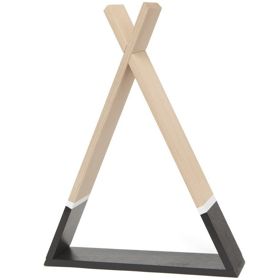 Tipi Wooden Shelf, Black