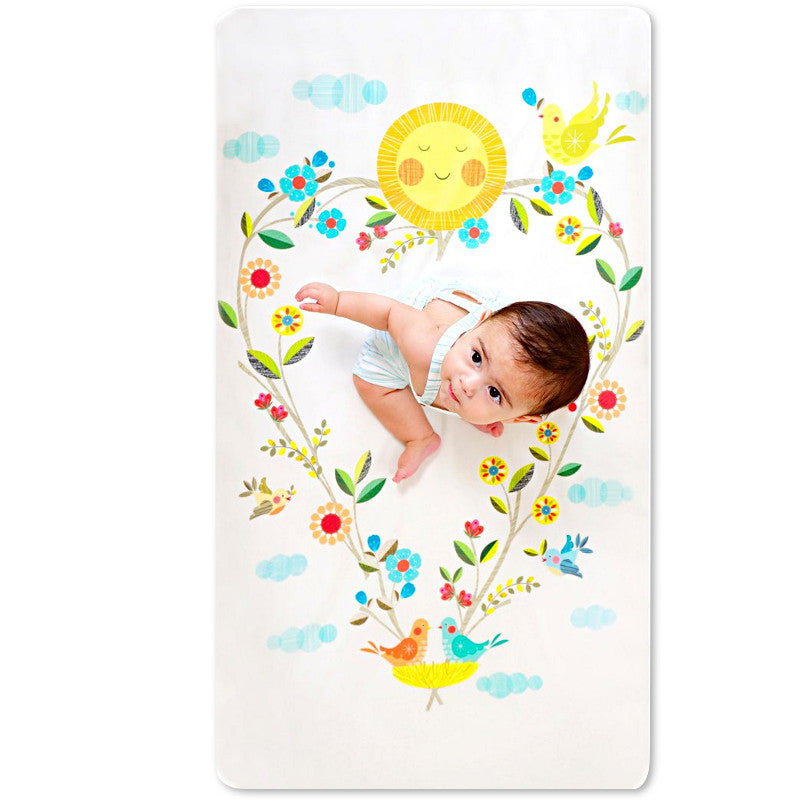 Love Blooms Crib Sheet