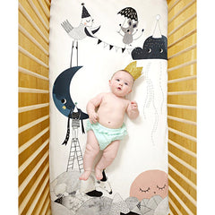 Birthday Moon Crib Sheet