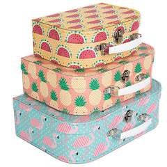 Tropical Summer Nesting Suitcase Set