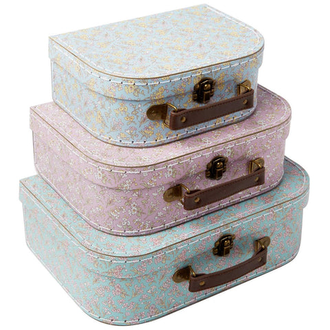 Grace Floral Nesting Suitcase Set