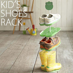 Kid's Shoe Rack from Japan, Green