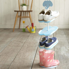 Kid's Shoe Rack from Japan, Blue