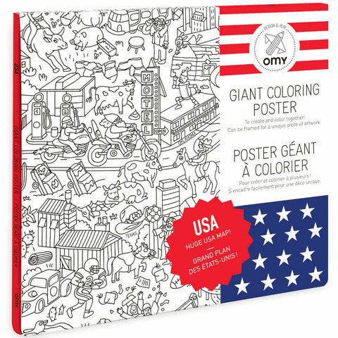 OMY Giant Coloring Poster, USA