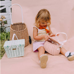 Olli Ella Mini Chari Bag, Rose