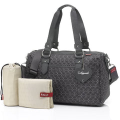 Babymel Ella Quilted Diaper bag, Pewter