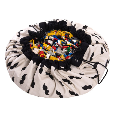 Play&Go Mr. Mustache Toy Storage Bag