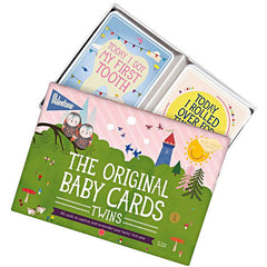 Milestone Baby Cards for Twins