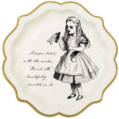 Alice Tea Party Paper Plates, Medium, 8 Pack