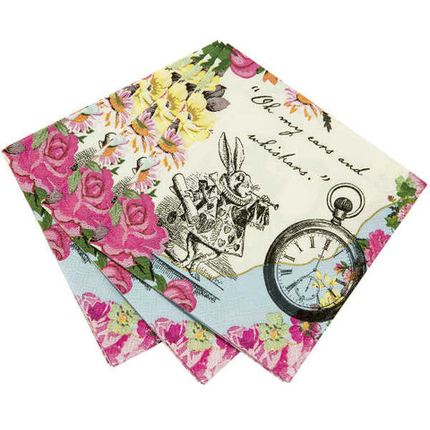 Alice Tea Party Paper Napkins, 20 Pack