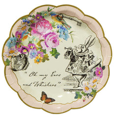 Alice Tea Party Paper Plates, 12 Pack