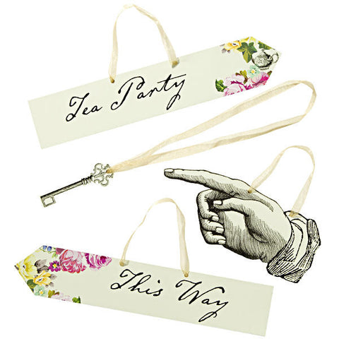 Alice Tea Party Setter Signs
