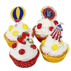 Country Fair Cupcake Wraps & Toppers