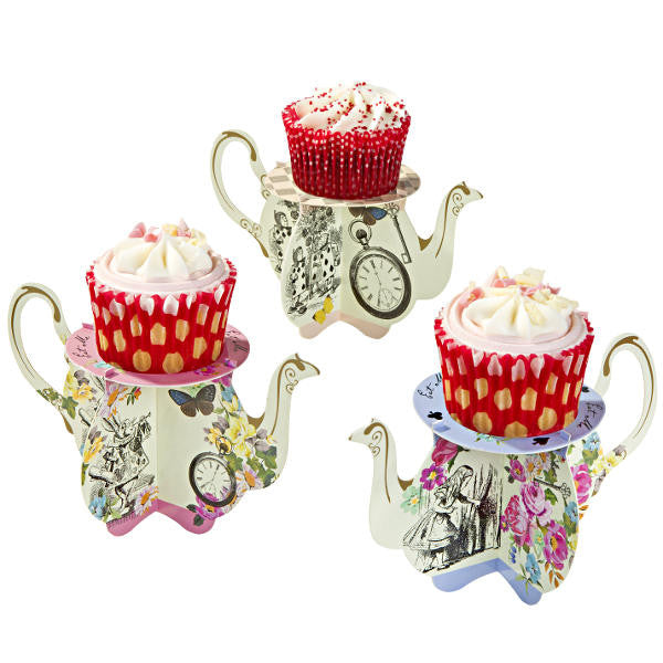 Alice Tea Party Cupcake Stands