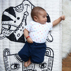Organic Quilted Play Blanket, Wild