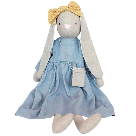Alimrose Sofia Bunny, Grey, 27 inches