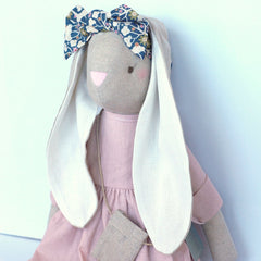 Alimrose Sofia Bunny, Pink, 27 inches