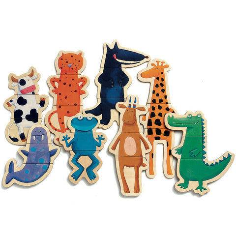 Djeco Crazy Animals Magnetic Puzzle