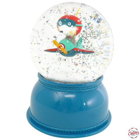 Djeco Snow Globe Night Light, Airplane