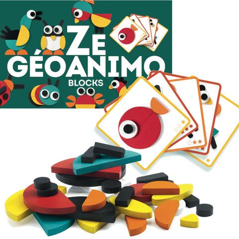 Djeco Ze Geoanimo Wooden Blocks