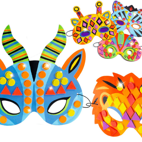 Djeco DIY Jungle Animal Mosaic Masks