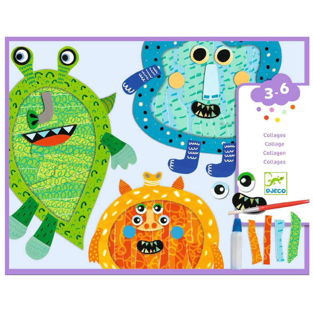 Djeco Happy Monsters Tear & Stick Collages