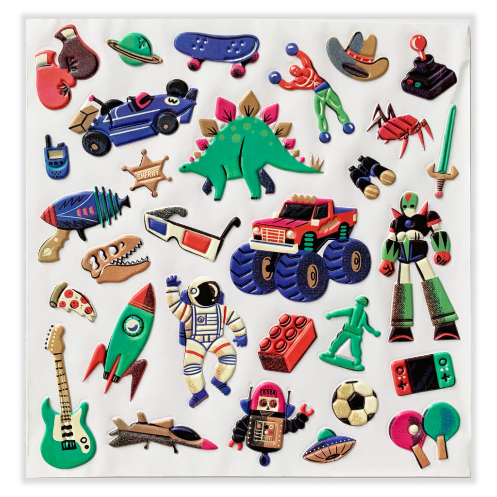 Djeco Puffy Stickers, Retro Toys