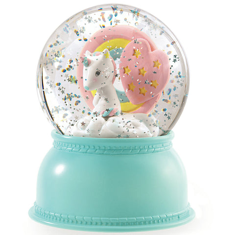 Djeco Snow Globe Night Light, Unicorn