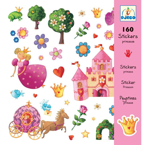 Djeco 160 Stickers, Princess Marguerit