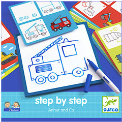 Step By Step Art Card, Arthur and Co