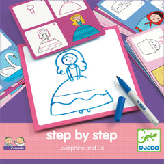Step By Step Art Card, Josephine and Co