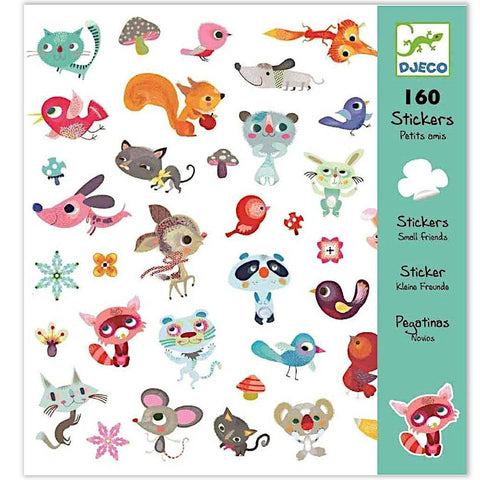 Djeco 160 Stickers, Little Friends