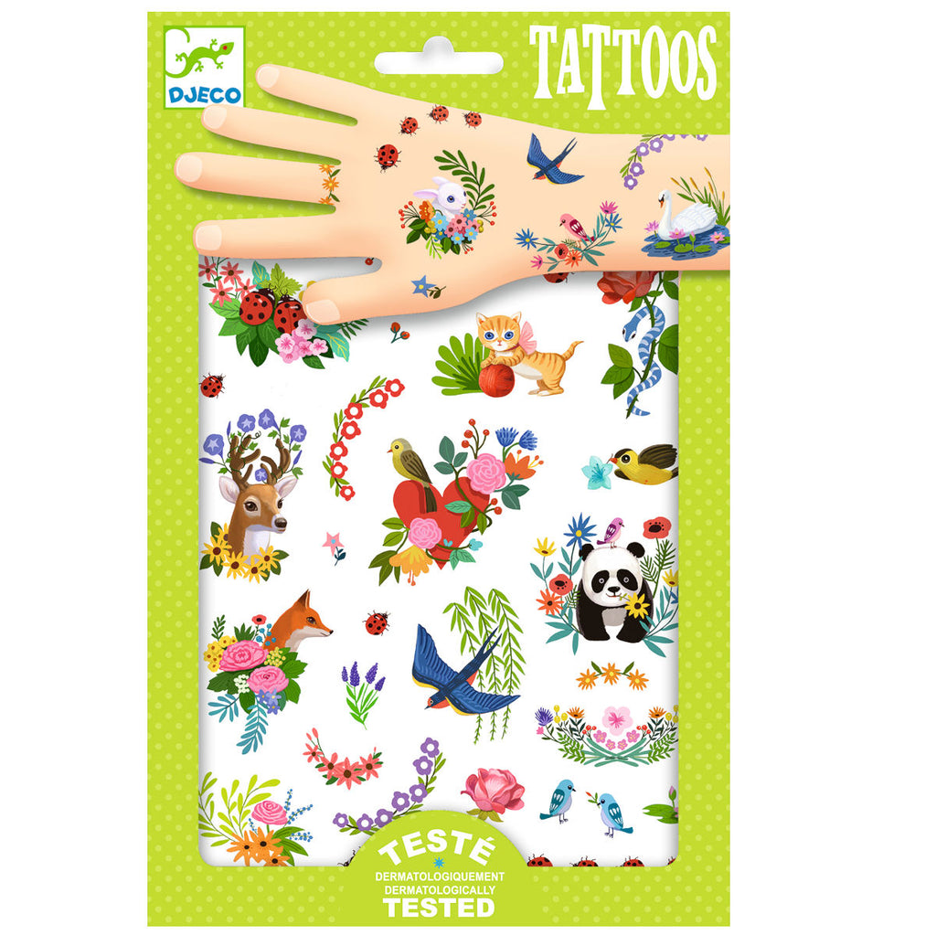 Djeco Temporary Tattoos, Happy Spring