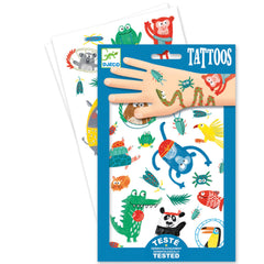 Djeco Temporary Tattoos, Animals