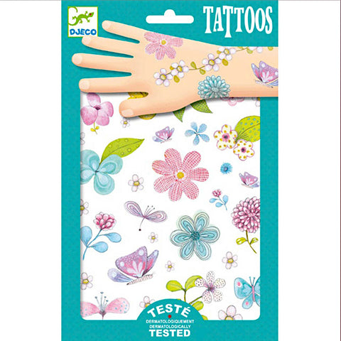 Djeco Temporary Tattoos, Fair Flowers