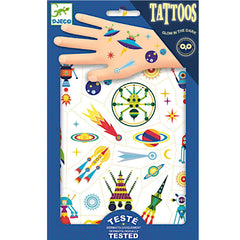 Djeco Temporary Tattoos, Space