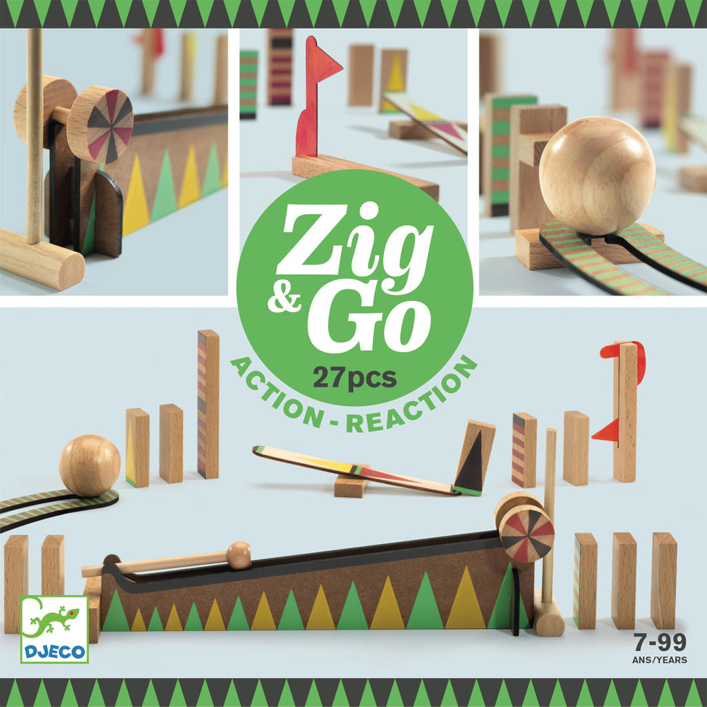 Djeco Zig & Go Action & Reaction Construction Set, 27pcs