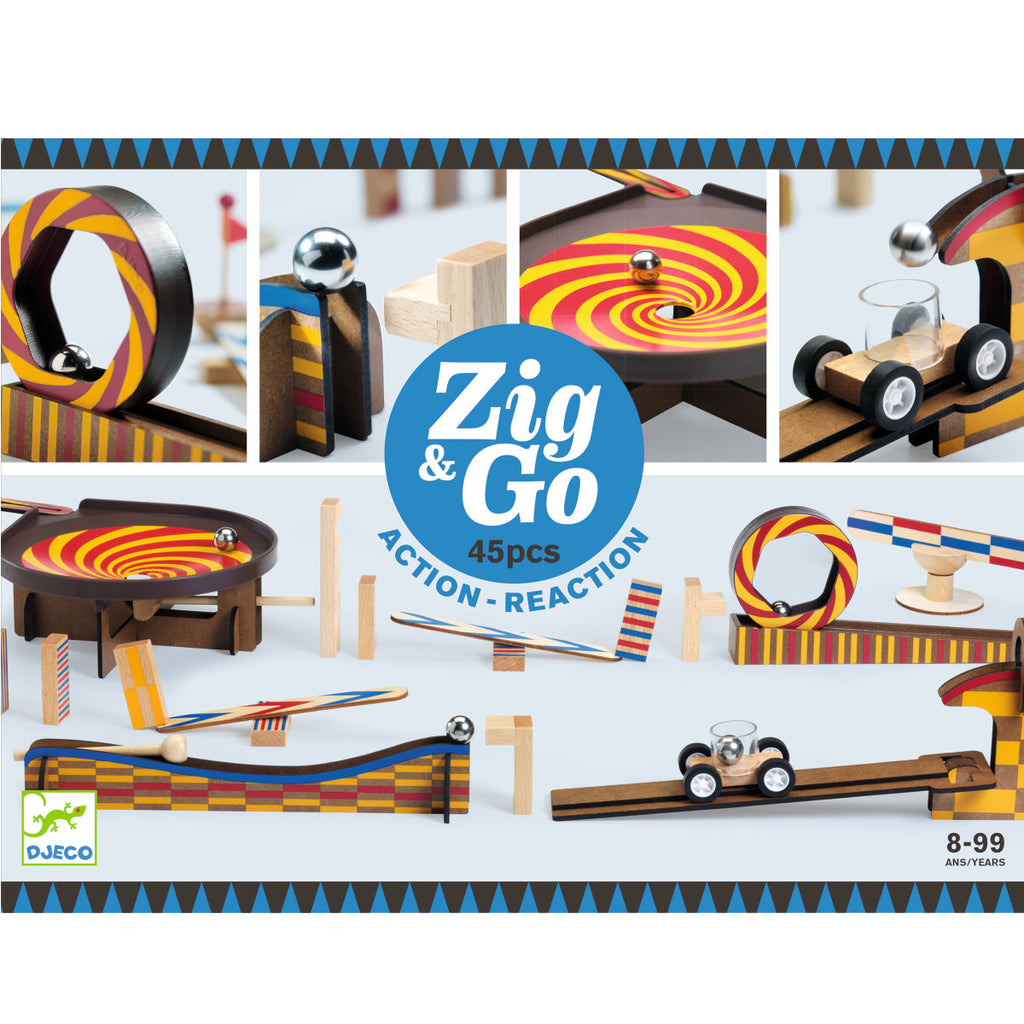 Djeco Zig & Go Construction Set, 45pcs