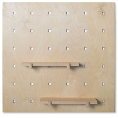 Natural Shelves for Caramba Pegboard