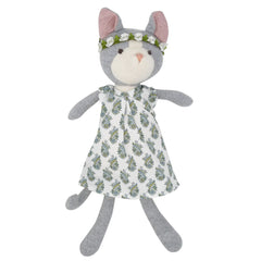 Hazel Village Gracie Cat Organic Cotton Doll in Tea Party Dress