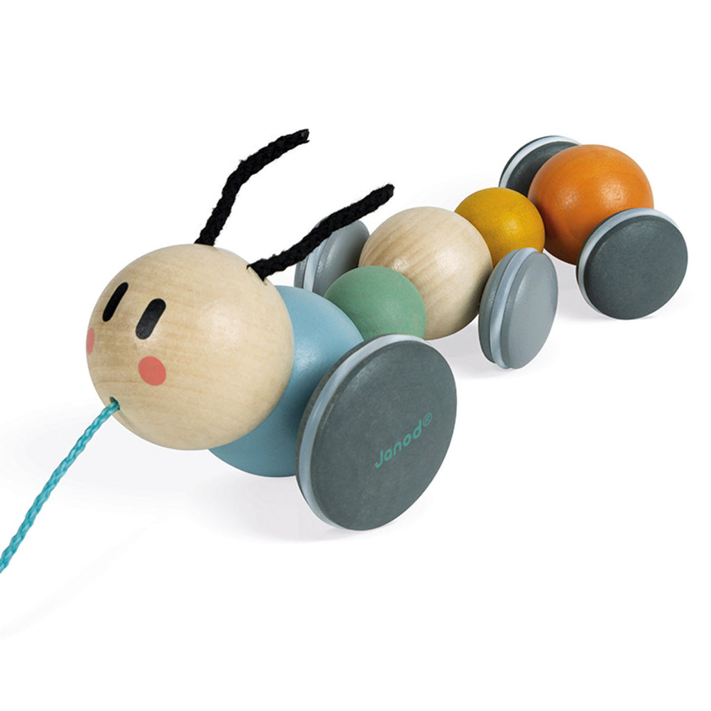 Janod Sweet Cocoon Caterpillar Pull Toy