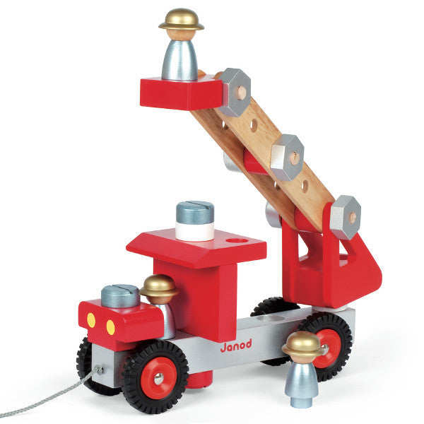 Janod Fire Truck Building Set