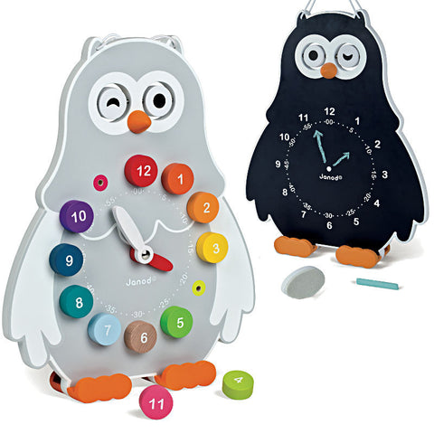 Janod Owly Clock - Learn to Tell Time!