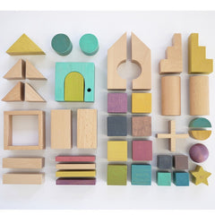 Tsumiki Wooden Blocks in a House