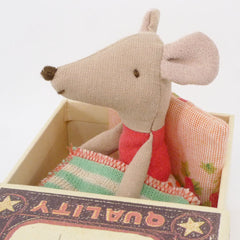Maileg Little Sister Mouse in a Box, Red Top